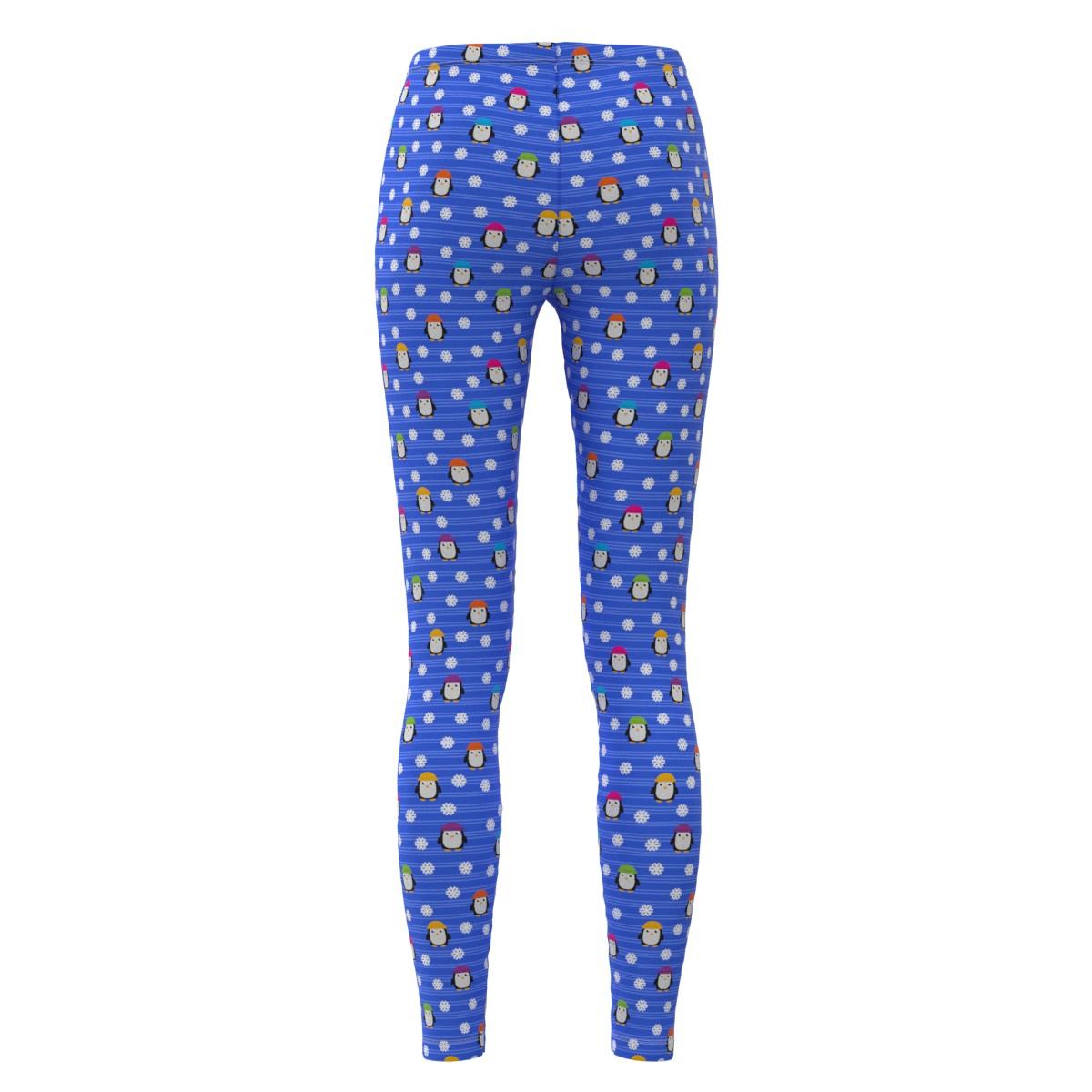 5xl Taglia Plus Leggings Capri Cute Penguins Xs Womens Regular Snowflakes wSHAT1Cq