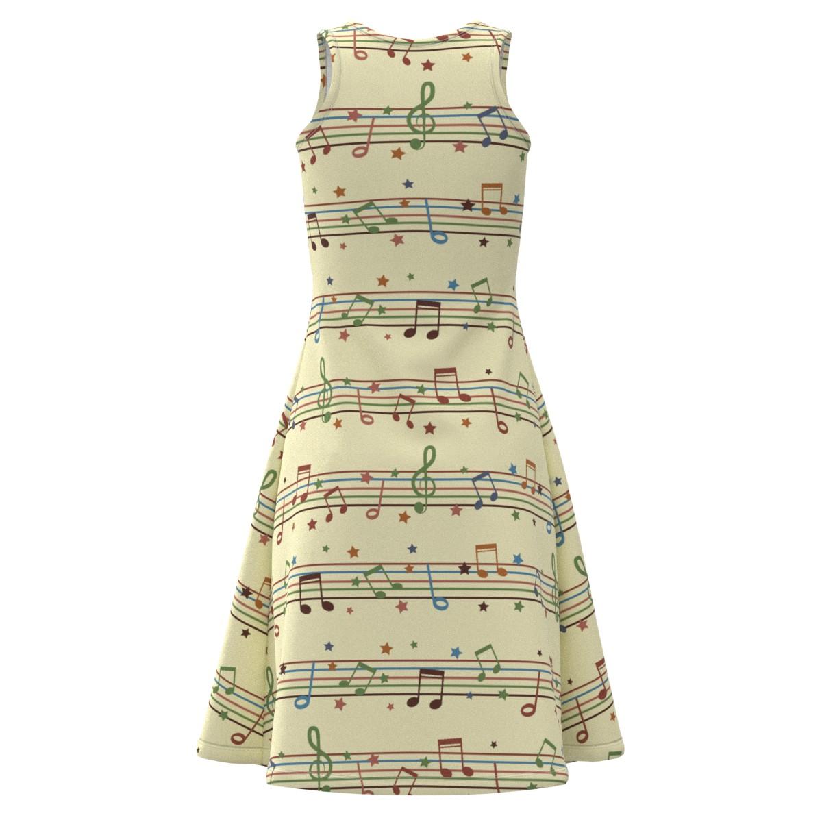 colorful Musical Note Stars Stars Stars Women Short Sleeve Sleeveless Dress Size XS-5XL Plus 97b3e8