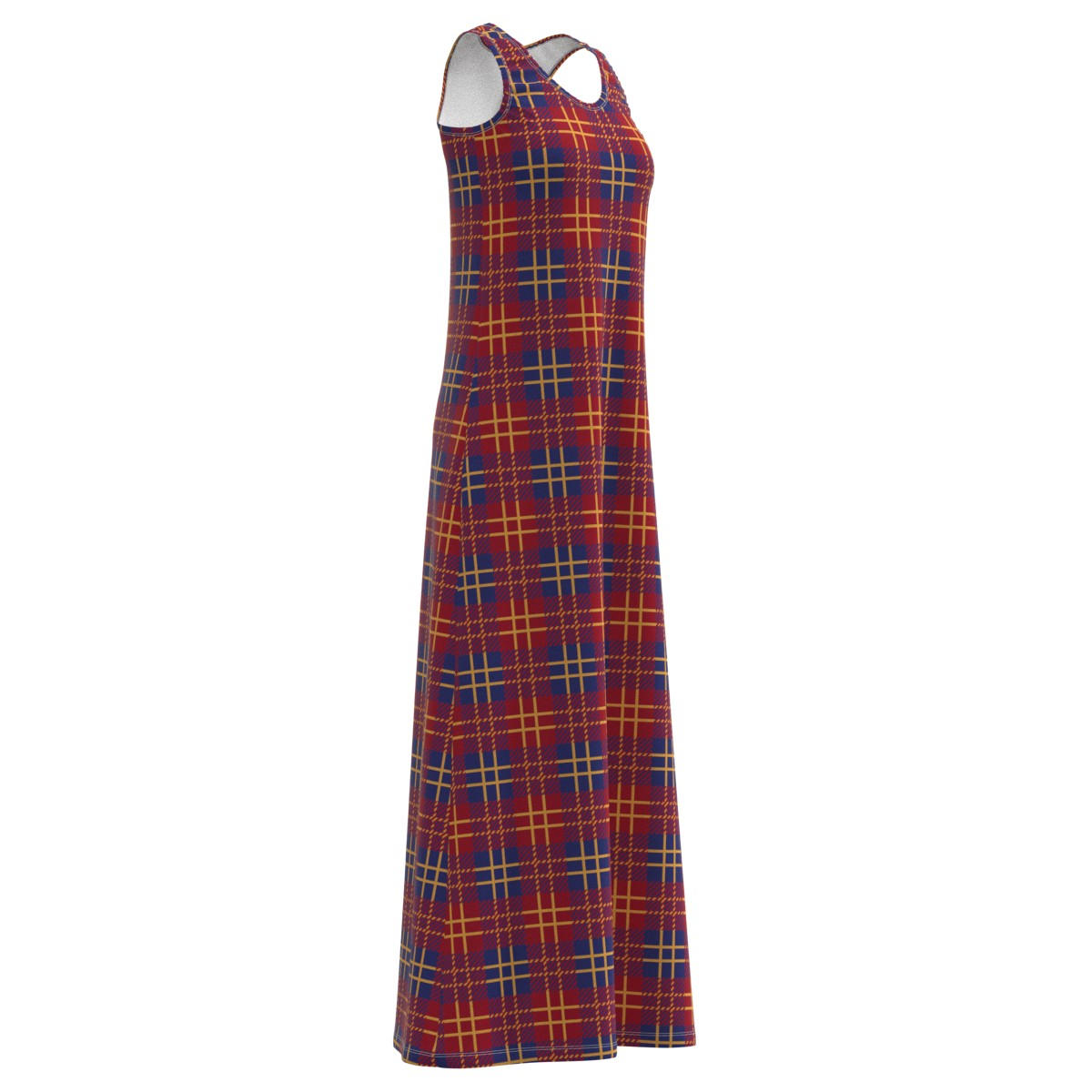 EightyThreeXYZ Allure Red Majestic bluee Plaid Long Long Long Maxi Dress Size XS-5XL Plus 960a45