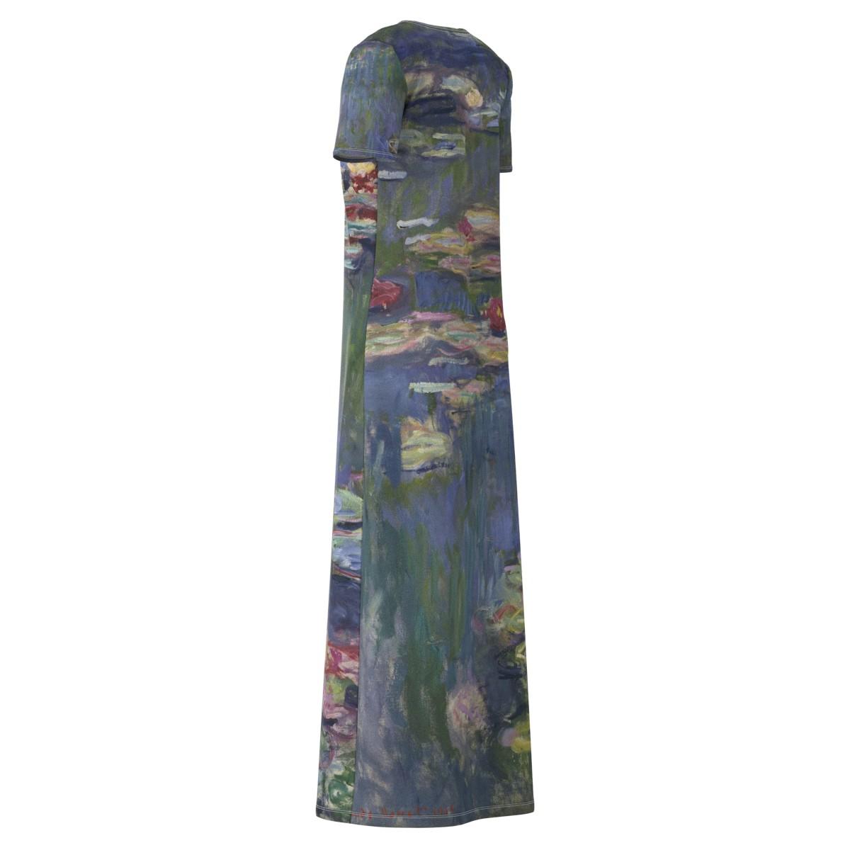 Claude Monet Water Lilies Lilies Lilies Short Sleeve & Sleeveless Maxi Long Dress Size XS-5XL d69f48