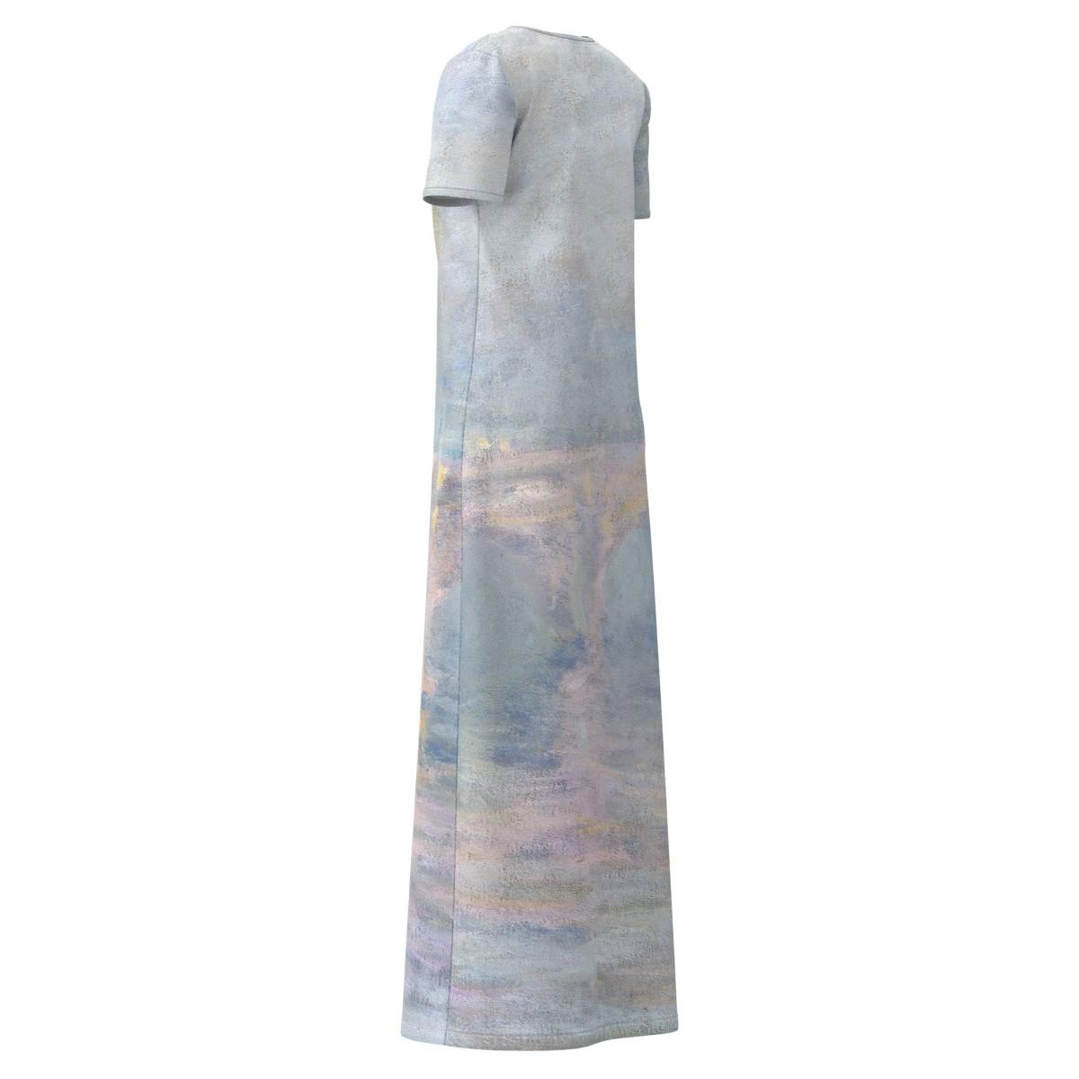 Claude Monet Waterloo Waterloo Waterloo Bridge London At Sunset Women Long Maxi Dress Size XS-5XL a5a6cb