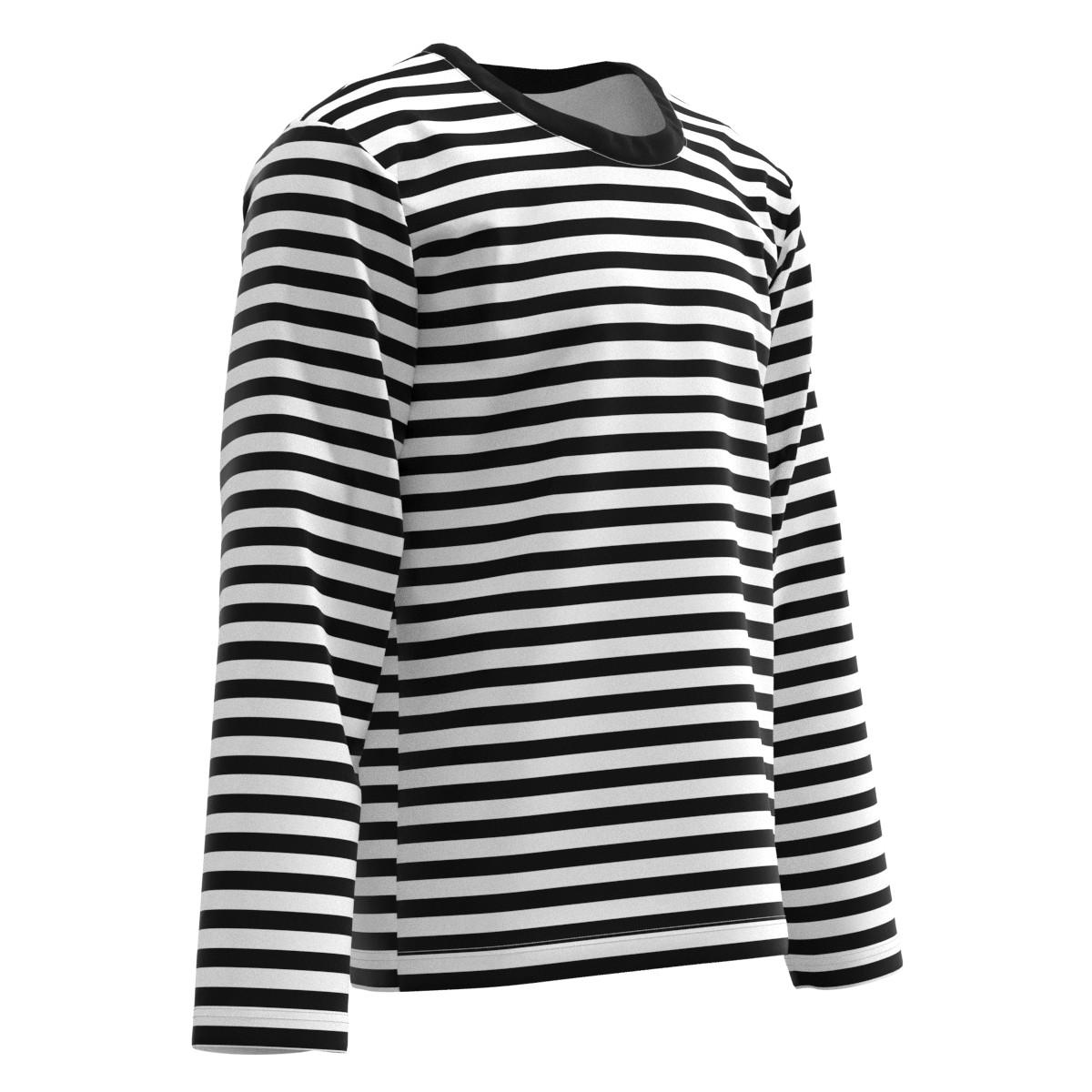 56b106587d EihtyThreeXYZ Black & White Horizontal Stripes Men Women Long Sleeve T-shirt