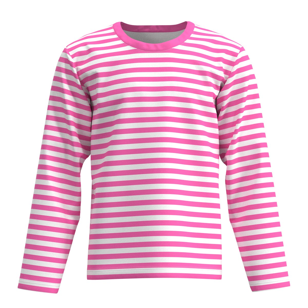 8e046b47c59 Details about EightyThreeXYZ Pink & White Horizontal Stripes Men Women Long  Sleeve T-shirt