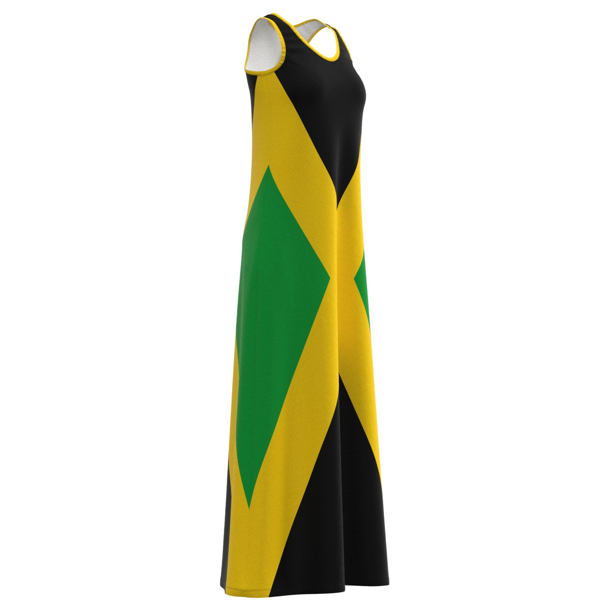 Jamaica greenical Flag colors Jamaican Jam Jam Jam Maxi Long Dress Size XS-5XL Plus ab47af
