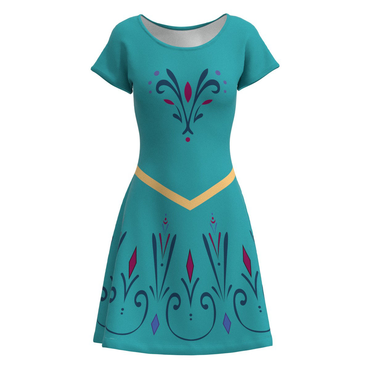 Haunted Mansion Wallpaper Short Sleeve Dress XS-5XL Flared