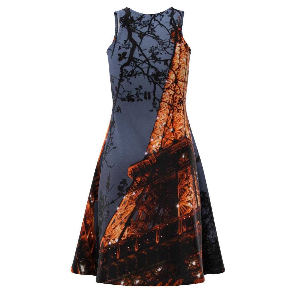 Eiffel Eiffel Eiffel Tower Paris City View Landscape Women Short Dress Size XS-5XL Plus 433815
