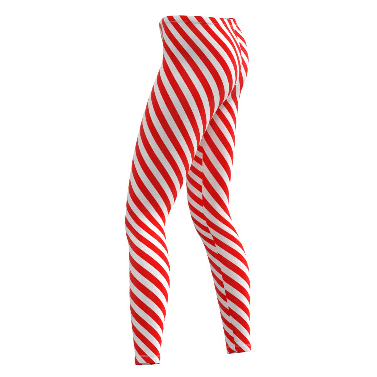386db9ab12 Details about Red & White Diagonal Stripes Womens Full & Capri Leggings  Size XS-5XL Plus